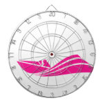Hot Pink Speed Boat Dart Boards