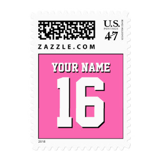 Hot Pink Sporty Team Jersey Stamp