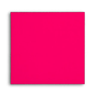 Hot Pink Square Scrollwork Monogrammed Envelopes