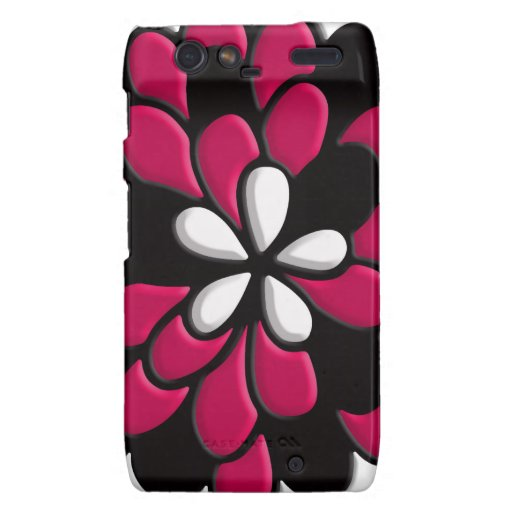 Hot Pink Stained Glass Flower Droid RAZR Case