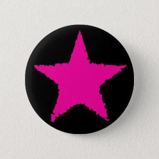 Hot pink star button