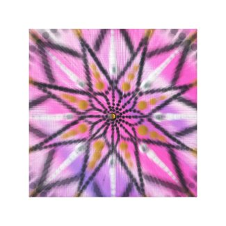 Hot Pink Starburst Floral Mandala canvas print