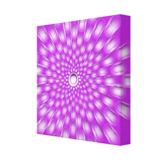 Hot Pink Starburst Mandala canvas print