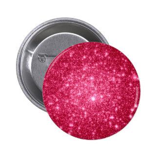 Hot Pink Stars Button