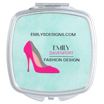 Professional Business Hot Pink Stiletto High Heel Shoe Chic Business Vanity Mirror