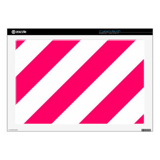 Hot Pink Stripes Decals For Laptops