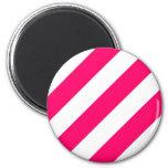 Hot Pink Stripes Magnets