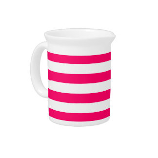 Hot Pink Stripes Pitcher