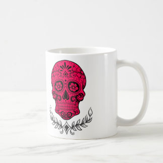 Hot Pink Sugar Skull Mug