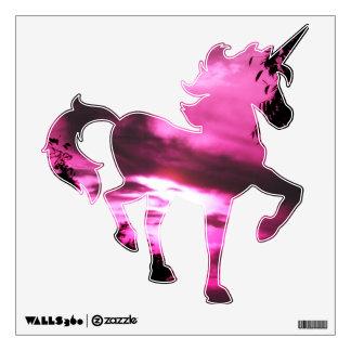 Hot Pink Sunrise Unicorn Wall Decal