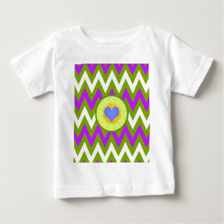 Hot Pink, Sunshine Yellow Chevron Patter Baby T-Shirt