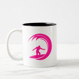 Hot Pink Surfing Coffee Mug