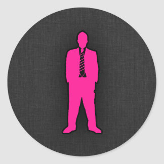 Hot Pink Swag Classic Round Sticker
