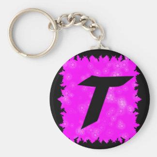 Hot Pink T Keychain