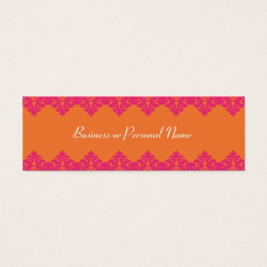 Hot Pink & Tangerine Lace Skinny Card