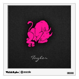 Hot Pink Taurus Bull Zodiac Sign Wall Sticker