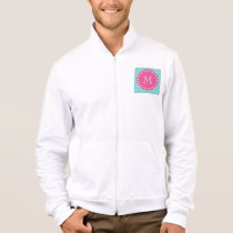 Hot Pink, Teal Blue Chevron | Your Monogram Jacket
