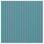 [ Thumbnail: Hot Pink & Teal Lines Pattern Fabric ]