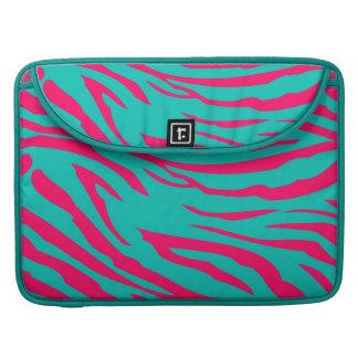 Hot Pink Teal Zebra MacBook Sleeve Computer Case MacBook Pro Sleeve