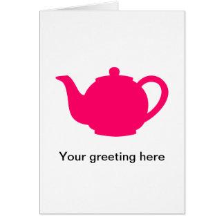 Hot Pink Teapot Cards