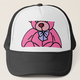 Hot Pink Teddy Bear Cute and Huggable Trucker Hat