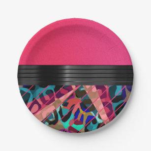 Hot Pink Textured Cheetah Paper Plate  sc 1 st  Zazzle & Hot Pink Cheetah Plates | Zazzle
