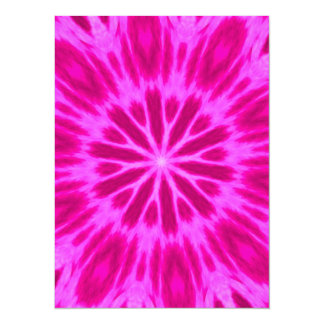 Hot Pink Tie-Dyed Kaleidoscope 5.5x7.5 Paper Invitation Card
