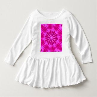 Hot Pink Tie-Dyed Kaleidoscope Dress