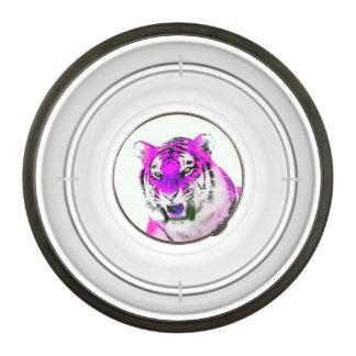 Hot Pink Tiger Portrait Painting Bowl