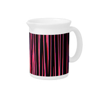 HOT PINK TILE (an abstract art design) ~ Drink Pitcher