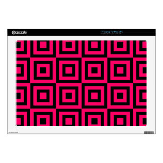 "Hot Pink Tiles Decals For 17"" Laptops"