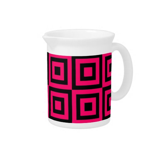 Hot Pink Tiles Pitchers