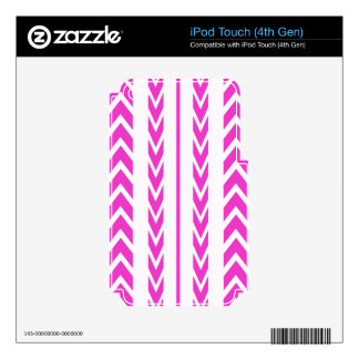 Hot Pink Tire Tread Decals For iPod Touch 4G