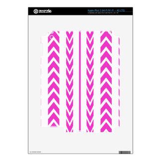 Hot Pink Tire Tread iPad 3 Skins