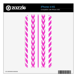 Hot Pink Tire Tread iPhone 4S Decal