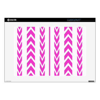 """Hot Pink Tire Tread Skin For 15"""" Laptop"""