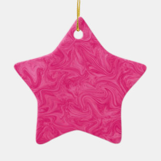 Hot Pink Tonal Abstract Swirled  Background Ceramic Ornament