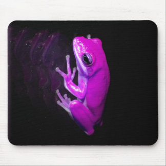 Hot Pink Tree Frog Mouse Pad