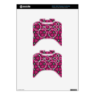 Hot pink triangles xbox 360 controller skins