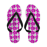 Hot Pink Tropical Floral Flower Print Sandals