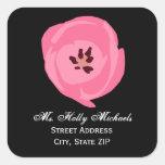 Hot Pink Tulip Address Label Sticker