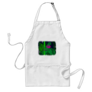 Hot Pink Tulip Faery Meeting Hall Abstract Art Adult Apron