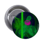 Hot Pink Tulip Faery Meeting Hall Abstract Art Pinback Buttons