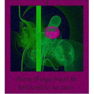 Hot Pink Tulip Faery Meeting Hall Abstract Art Photo Cutout