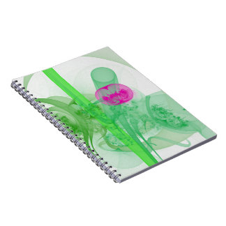 Hot Pink Tulip Faery Meeting Hall Abstract Art Spiral Notebook