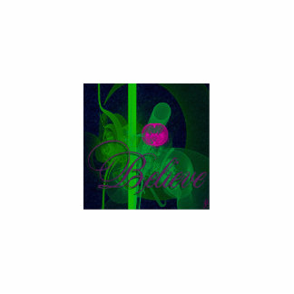 Hot Pink Tulip Faery Meeting Hall Abstract Art Statuette