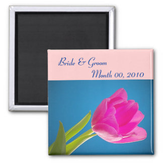 Hot Pink Tulip Refrigerator Magnets