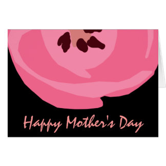 Hot Pink Tulip Mother's Day Card