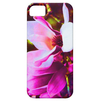 Hot pink tulip tree blossom iPhone SE/5/5s case