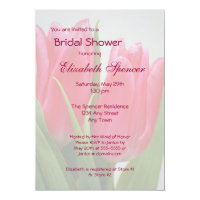 Hot Pink Tulips Bridal Shower Invitation